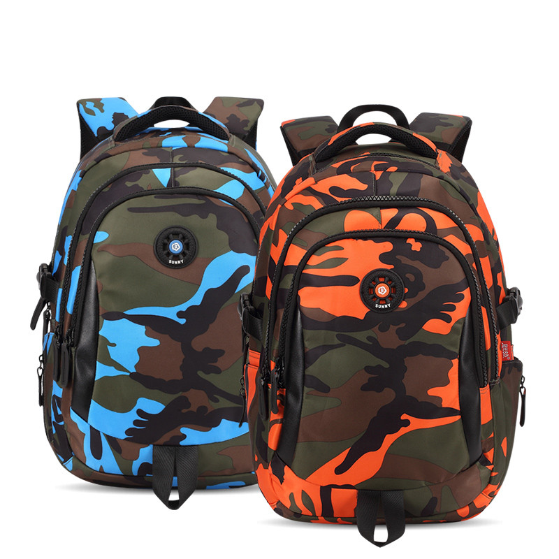 SML 3Sizes Camouflage Waterproof Nylon Children School Bags Boys Girls Orthopedic Schoolbag Backpack Kids Bag mochila infantil