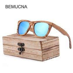 2018 Новый BEMUCNA Для женщин Брендовая Дизайнерская обувь квадратном деревянном солнцезащитные очки Для мужчин бамбуковые солнцезащитные