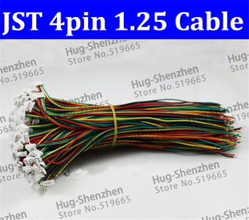 High Quality and new brand Mini. Micro 1.25 T-1 4-Pin Connector w/.Wire x 100Pcs .4pin 1.25mm
