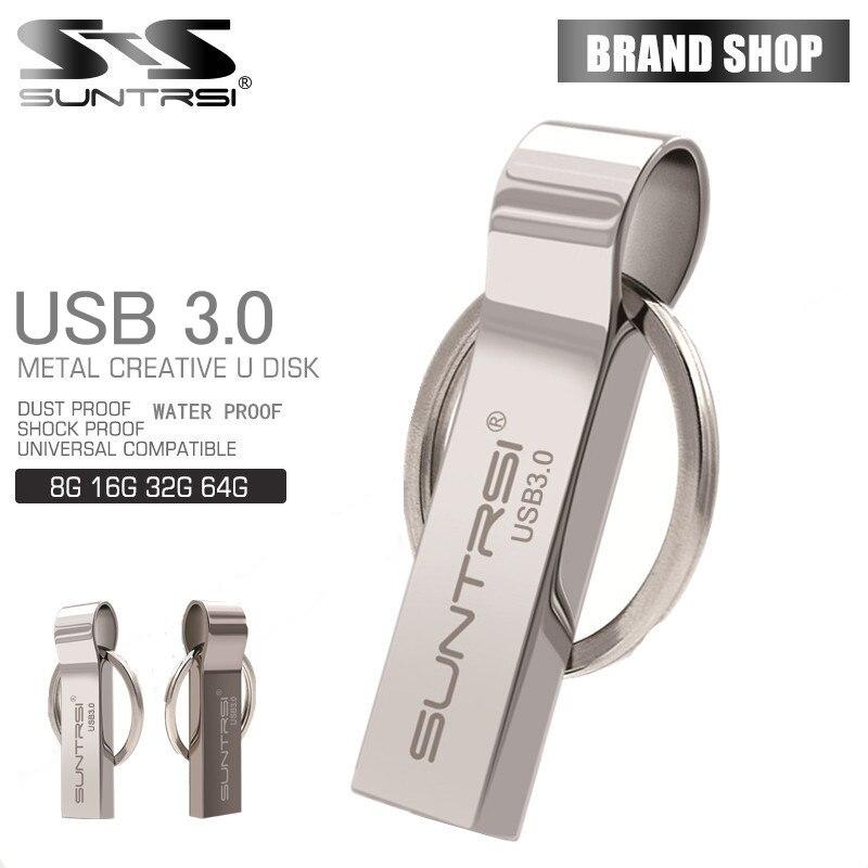 Suntrsi Wasserdichte usb 3.0-Stick 8G 16G Pen Drive 32G 64G Speicher USB Stick schlüsselanhänger usb-stick