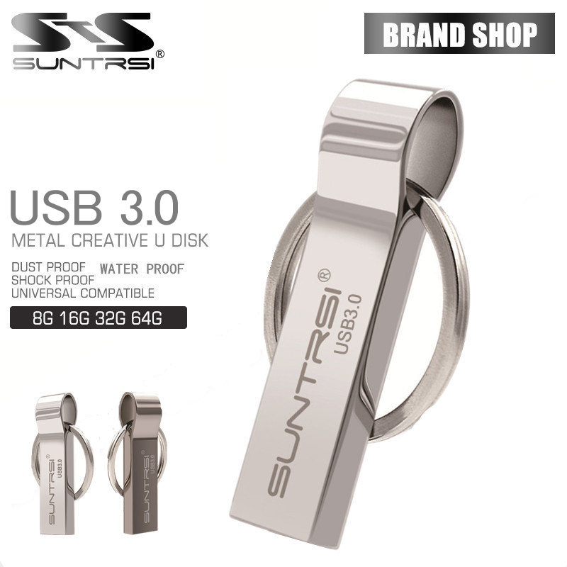 Suntrsi Waterproof usb 3.0 Flash Drive 8G 16G Pen Drive 32G 64G Memory Storage USB Stick Pendrive key ring usb flash drive suntrsi usb flash drive 64gb metal key pendrive 64gb waterproof pen drive usb 2 0 usb stick memory stick usb flash custom metal
