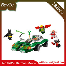 Bevle Store LEPIN 07059 289Pcs Batman movie Series Mystery Mystery Racing Model Building Blocks Bricks For Children Toys 70903
