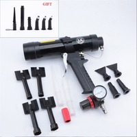 Car Sheet Metal Pneumatic Caulking Gun Hard Rubber Soft Wave Pattern Glue Gun Plastic Nozzles Set Tool Equipment Silicone Tools