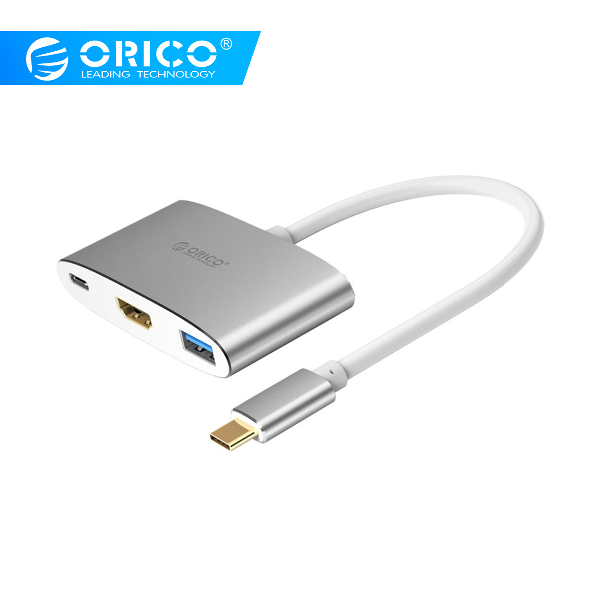 ORICO USB C HUB Type C To HDMI USB 3 0 Adapter 4K 1080P 5Gbps for