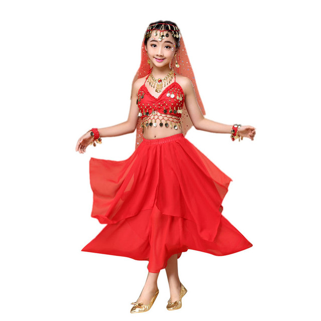 c29e61567c45 2018 hot Womens New Belly Long Sleeve Dance Costumes Set Indian ...