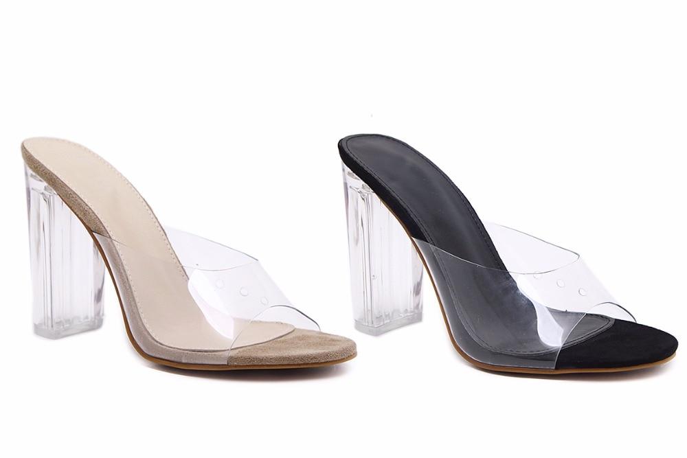 HTB1cNrcoBTH8KJjy0Fiq6ARsXXaN Aneikeh New Women Sandals PVC Crystal Heel Transparent Women Sexy Clear High Heels Summer Sandals Pumps Shoes Size 41 42