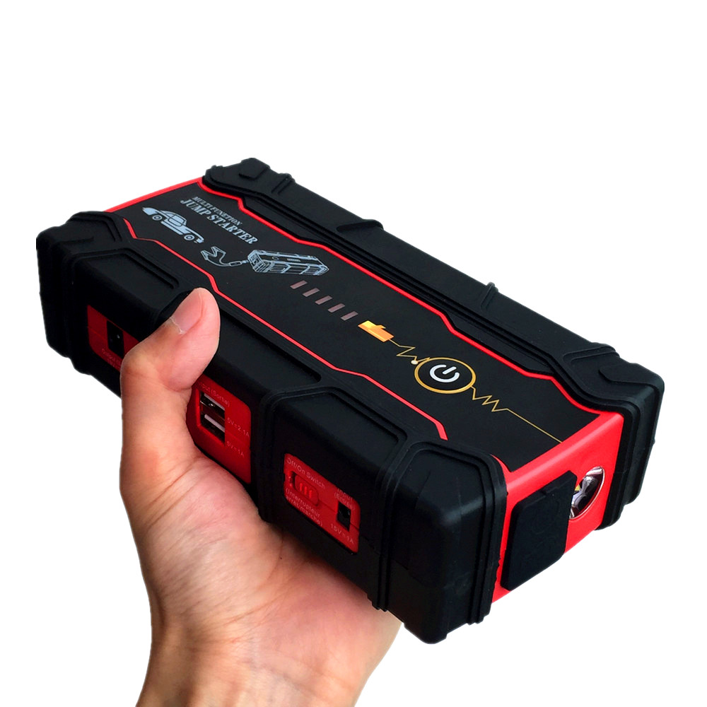 High Capacity 15000mAh Car Jump Starter Charger For Car Battery Portable 12V Starting Device 2USB Power Bank SOS Light Free Ship  2017 high capacity 15000mah car jump starter portable 12v car battery booster charger mobile 2usb power bank sos light free ship