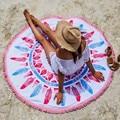 New Arrival Microfiber Round Beach Towel Tassel Summer Style Adulte Toallas Beach Serviette de Plage Mandala Towel Yoga Mat