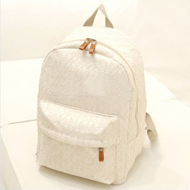 ecoparty 2017 Lace Backpacks Canvas Shoulder School Bag Girl Ladies Teenagers Travel Bags Schoolbag Bagpack Mochila