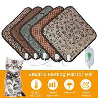 Pets Electric Heating Pads Dogs Cats Indoor Warming Mat Waterproof 45x45cm Carpet Portable Adjustable