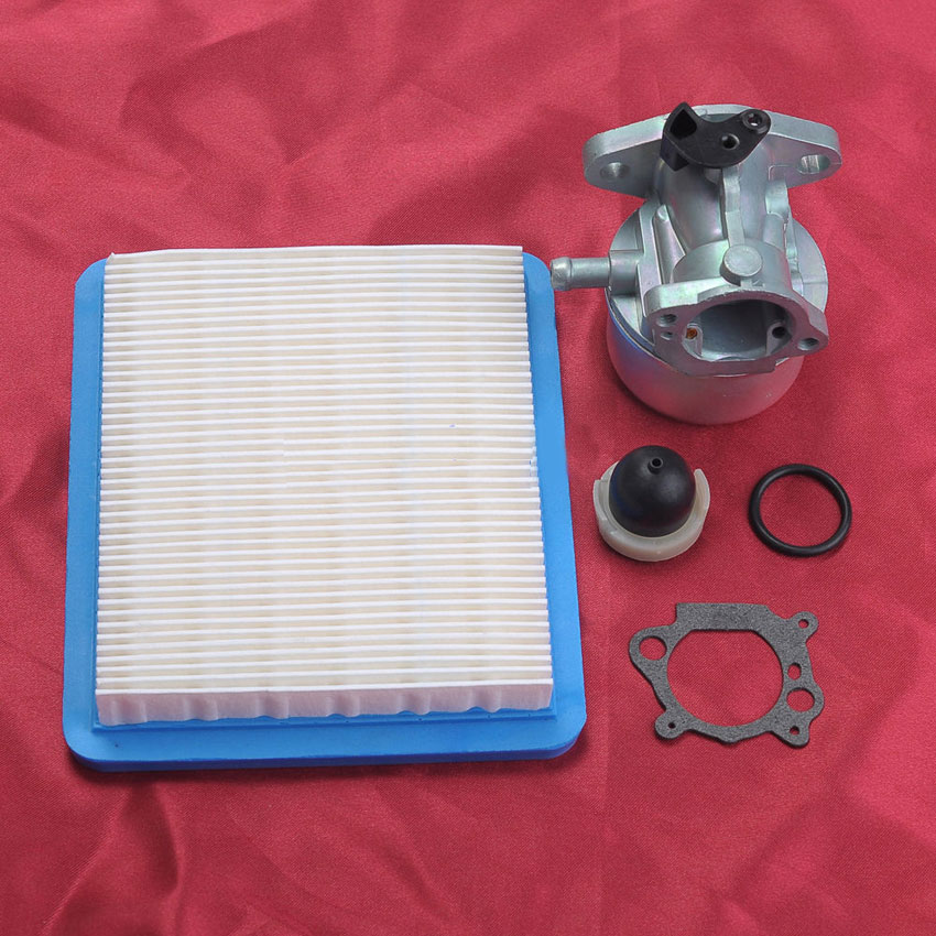 Carburetor with Primer Bulb Kit For 120H00 120K00 121H00 121K00 Carb Briggs Stratton 799868 498170 694395 128700 128800 купить недорого в Москве
