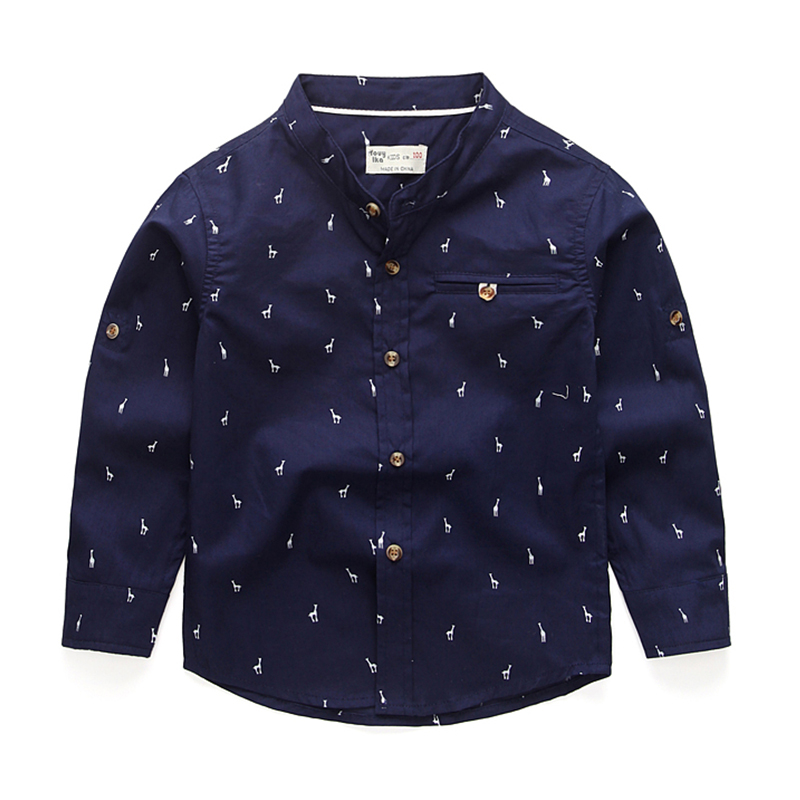 Boys Shirts for British Children Cotton Fashion Long Sleeve School Blouses Kids England Square Collar Clothes For Wedding Party fashion slimming stand collar solid color knit splicing long sleeve cotton blend blazer for men
