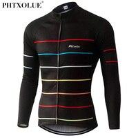Phtxolue Thermal Fleece Cycling Jerseys Autumn Winter Warm 2016 Pro Mtb Long Sleeve Men Bike Wear