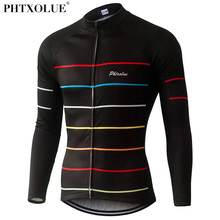 Phtxolue Thermal Fleece Cycling Jerseys Autumn Winter Warm Pro Mtb Long Sleeve Men Bike Wear Spring Summer Cycling Clothing