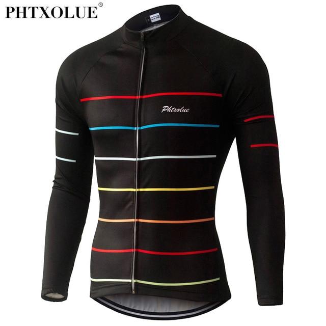 Phtxolue termal polar bisiklet formaları sonbahar kış sıcak Pro Mtb uzun kollu erkek bisiklet kıyafeti bahar yaz bisiklet giyim