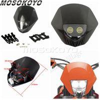 Motocross Dirt Bike Offroad Enduro LED Headlight Universal Motorcycle Headlamp Mask For Honda Yamaha Suzuki KTM CRF WRF DR