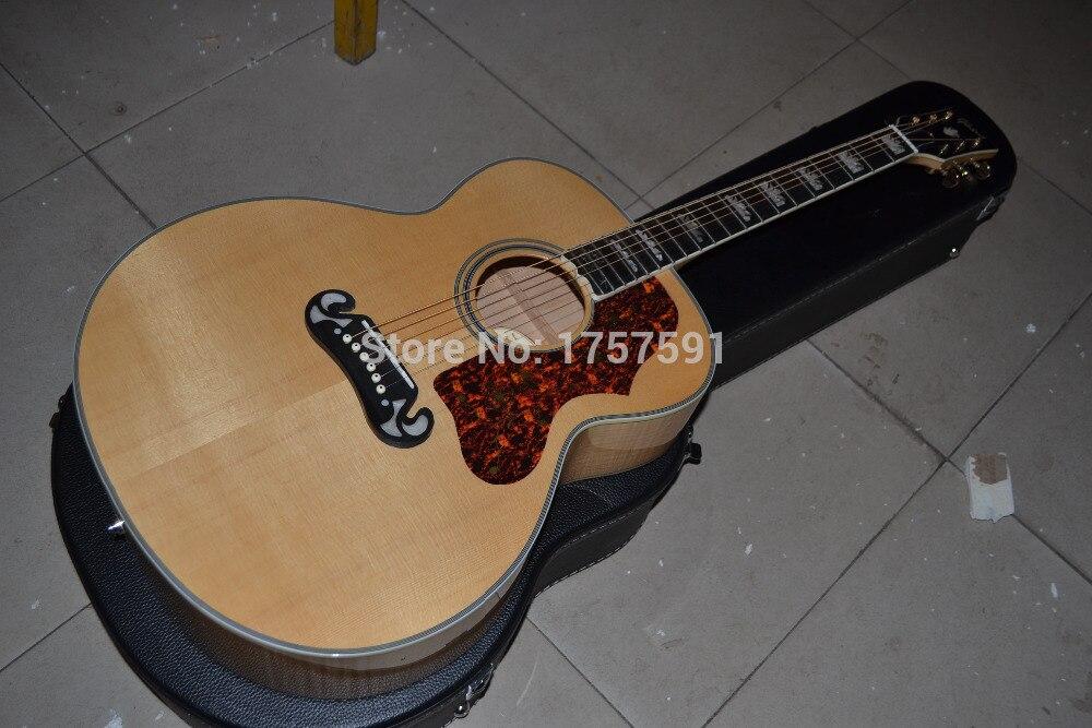 factory custom shop 2015 new solid veneer back side tiger stripe folk acoustic guitar j200. Black Bedroom Furniture Sets. Home Design Ideas