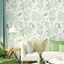 купить Modern Literary Wallpaper Plant Small Floral Green Bedroom Living Room Decoration Background Wall Paper Roll по цене 1604.83 рублей