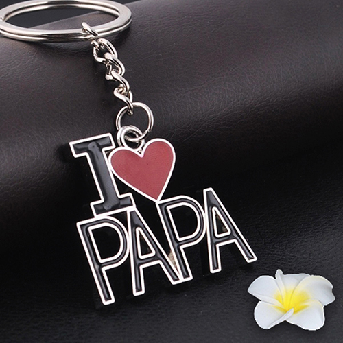27c0c8e634f96 Moda Criativa Chaveiro Liga Chaveiro Eu AMO PAPA Pingente Presente para O  Pai Pai