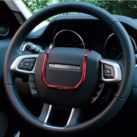 Steering wheel button switch button sticker cover trim for range rover evoque Interior chromium styling Mouldings Accessories