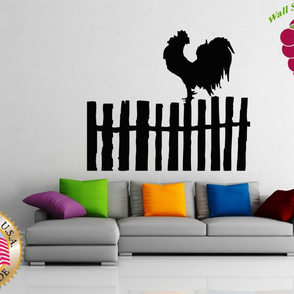popular rooster wall stickers buy cheap rooster wall stickers lots wall stickers vinyl decal rooster country side farm china