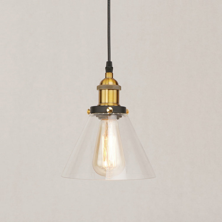 IWHD Glass Hang Lights Loft Style Industrial Lighting Iron Vintage Lamp LED Pendant Light Kitchen Hanging Lamp Bar Lamparas new loft vintage iron pendant light industrial lighting glass guard design bar cafe restaurant cage pendant lamp hanging lights