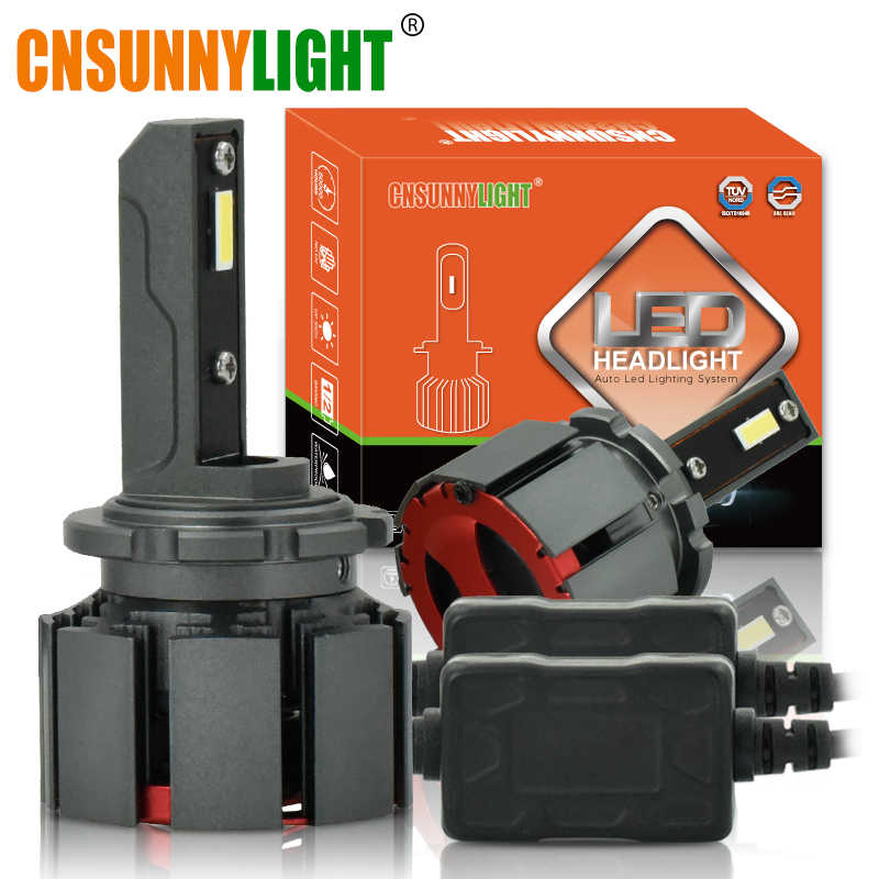 CNSUNNYLIGHT D1S D3S D2H D2S D4S LED Headlight Car Bulbs 10000Lm 70W/PAIR Automotive Lights Dual Beam for Hela/Q5 Projector Lens