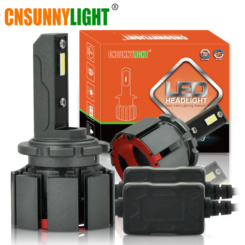 CNSUNNYLIGHT D1S D3S D2H D2S D4S LED Headlight Car Bulbs 10000Lm 70W/PAIR Automotive Lights Dual Beam for Hela/Q5 Projector Lens-in Car Headlight Bulbs(LED) from Automobiles & Motorcycles    1