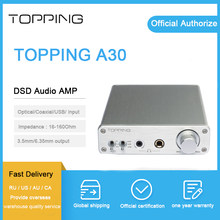 Topping A30 headphone amplifier usb dsd tpa6120 chip hi fi desktop mini dac amp for 3.5mm&6.35mm Output(China)