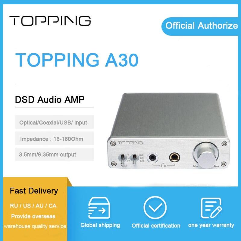 Garniture A30 casque amplificateur usb dsd tpa6120 puce salut fi de bureau mini dac amp pour 3.5mm et 6.35mm sortie