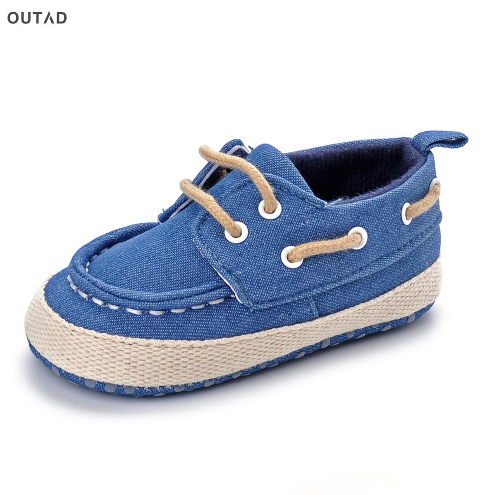 OUTAD New Baby Shoes Breathable Shoes First Walkers Lace-up Flat Shoes Infant Toddler Soft Bottom Soled Boots For Newborn Baby