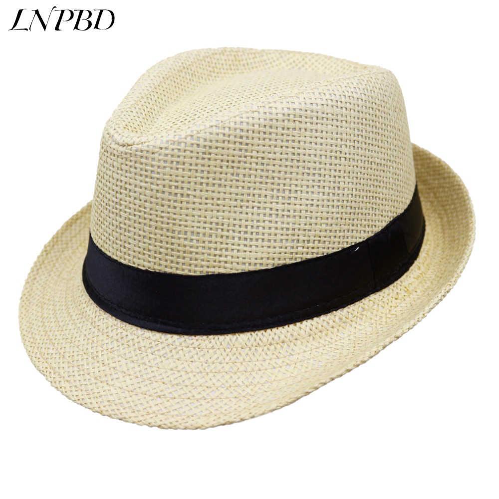 ac0564e4ec0 2018 Hot sale Summer Style Child sunhat Beach Trilby Sun hat Straw panama  Hat For boy