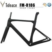 C freio de fibra carbono quadro estrada 130*9mm ud carbono estrada bicicleta quadro di2 fibra carbono conjunto quadros 50/53/56/59cm