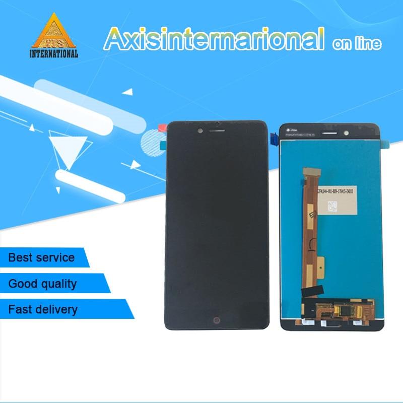 Original Axisinternational For 5.2 ZTE Nubia Z17 mini NX569J NX569H LCD screen display+touch digitizer Black/whitefree shipping