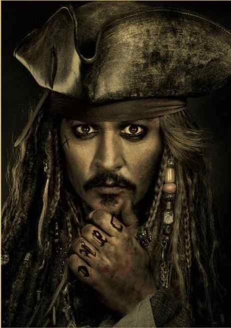 5D Full Diy Diamond Painting cross stitch Pirates of the Caribbean Captain Jack Sparrow actor Johnny Depp Diy diamond embroidery