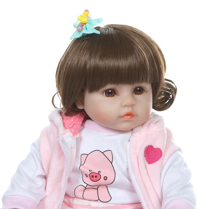48 cm réaliste Reborn bébés doux Silicone bébé poupées lol reborn bambin réaliste nouveau-né bébé poupée pour enfant cadeau de noël - 6