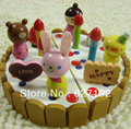 2015 Hot Sale Time-limited Multicolor Miniature Doll Kids Pretend Play Sowman Cartoon Cake Toys Complimentary A Strawberry Knife