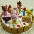 2015 Venda Quente Tempo-limitado Multicolor Boneca Em Miniatura Crianças Pretend Play Sowman Dos Desenhos Animados Brinquedos Bolo De Cortesia Uma Faca Morango