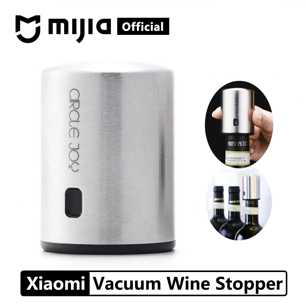 Xiaomi Mijia Smart Wine Stopper Stainless Steel Vacuum Memory Wine Stopper Electric Stopper Wine Corks Father Gift