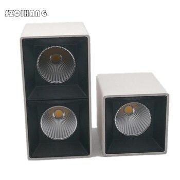 Поверхностного монтажа Квадратный светодиодный светильник с регулируемой яркостью Single12W/двойной 2x12W светодиодный круглая лампа светодиод...
