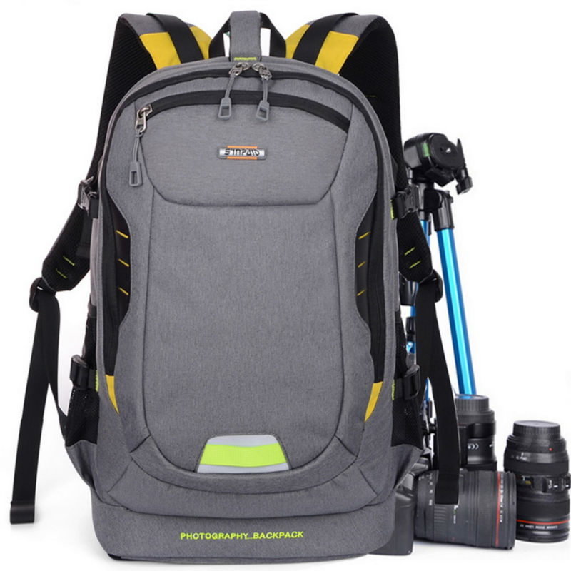 SINPAID Professional Digital Camera Travel Backpack Waterproof DSLR SLR <font><b>Photography</b></font> Bag Cases for Canon Rebel Nikon Sony Pentax