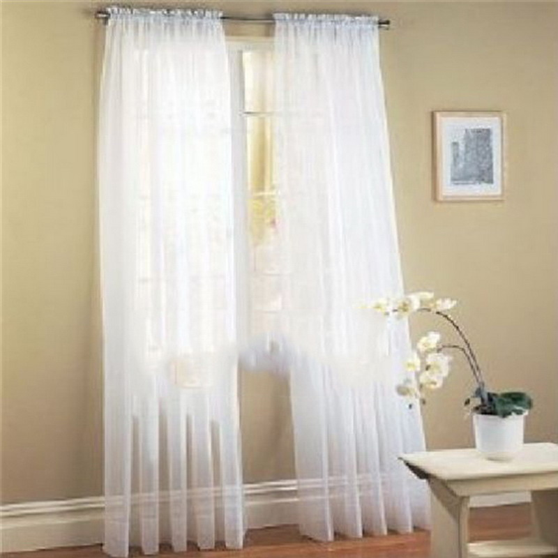 15 Colors Curtains For Living Room 1PC Home Hotel Office Bedroom French Window  Curtain Room Decoration