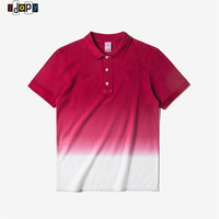 Summer Gradual Color Polo Shirts Fashion Street Style Hip Hop Casual Gradient Polos Shirts For Men
