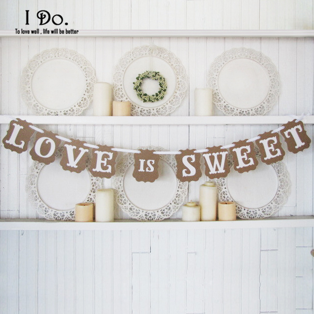 free shipping love is sweet wedding banner photo booth props photobooth for wedding decoration mariage event - Aliexpress Decoration Mariage