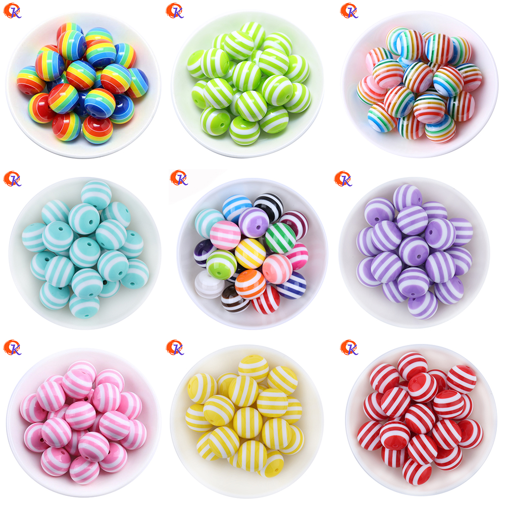 100Pcs/Lot DIY Necklace Accessory Children Handcraft Department 20MM Round Shape Resin Stripe Beads Jewelry Findings 100pcs lot stm8s003f3p6 st tssop20
