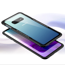 CYATO Tempered Glass Case Luxury Cover For Samsung Galaxy S10 Plus S10E High Quality Good Feeling Coque