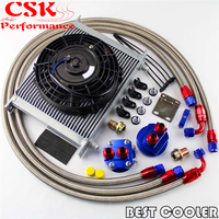 30 Row -8AN AN8 engine Transmission Oil Cooler + 7