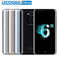 DOOGEE Y6c Fingerprint mobile phones 5.5Inch HD 2GB+16GB Android6.0 Dual SIM MTK6737 Quad Core 8MP 3200mAH WCDMA LTE GSM GPS