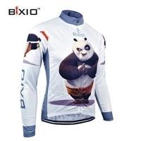 BXIO Winter Thermal Fleece Cycling Jerseys Pro Bike Jersey Warm Long Sleeves Panda Autumn Bicycle Clothing
