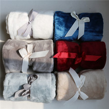 Super Soft Microplush Bed Blanket Printed Fuzzy fleece Solid Pure color Blanket Plaids Bedspreads throw for Bed baby gift